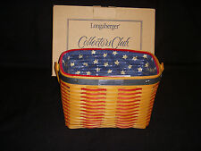 Longaberger 2001 Collectors Club Whistle -stop Tie-on