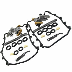Pair Timing Chain Tensioner Gasket Set Kit  Left+Right For AUDI A6 A8 VW 4.2L V8