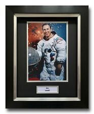 More details for jim lovell hand signed framed photo display - apollo 13 autograph.