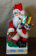 Vintage Battery operated Santa Claus Coin Bank Trim & Tree Santa Japan Works