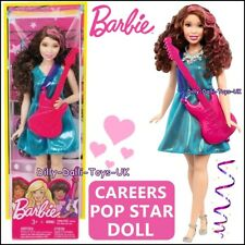 Barbie Careers I Can Be A Pop Star Doll Brunette With Guitar New Rare Musician