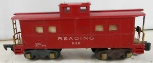 Vintage 1950's American Flyer 630 Reading Lighted Caboose
