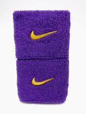 "Nike Swoosh Wristbands Field Purple/Amarillo 3"" Men's Women's"