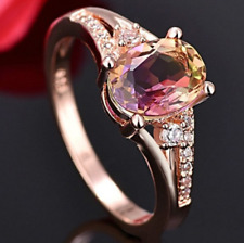 Men Women Stainless Steel Crystal Rhinestone Gold Silver Wedding Band Ring Hot