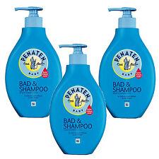 (15,57€/L) 3x 400ml Penaten Baby Bad & Shampoo Parfümfrei Pflege keine Tränen