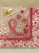 Pink Ribbon Package of 20 Luncheon Paper Napkins by Cypress Home