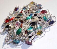 20 PCs. Malachite & Calsilica Gemstone 925 Silver Plated Hook Earring Jewelry