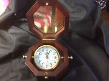 Quartz Ships Clock in Gimballed Box - Sunset Limited. Amtrack
