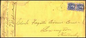 EDSROOM-80 DAMAGED  RICHMOND  TO LEXINGTON KY PAIR SCOTT 114 C 1870