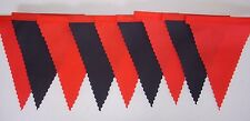 MAN UTD RED & BLACK MINI  FOOTBALL Fabric Bunting Bedroom Decoration 3mt