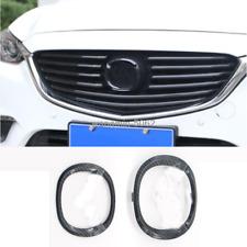ABS Carbon fiber Front/Rear Emblem Badge Logo cover trim for Mazda 3 Axela 17-19