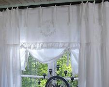 LillaBella CRYSTAL NY Raff Gardine 160x90 Weiß Spitze bestickt Rollo Curtain