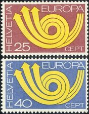 Switzerland 1973 Europa/CEPT/Communication/Posthorn/Arrows/Animation 2v (ex1054)