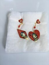 """Lunch at the Ritz """"Queen of Hearts"""" Earrings"""