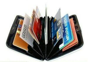 Porte cartes bancaires Etui Boîte Portefeuille avec protection RFID homme femme