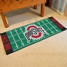 "Ohio State Buckeyes 30"" X 72"" Football Field Runner Area Rug Floor Mat"