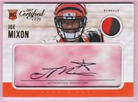 JOE MIXON RC 2017 PANINI CERTIFIED CUTS CUT SIGNATURE PATCH AUTO #89/99