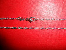 (BGTR)1.2mm 22 in Sterling Silver Plated Twistwed chain necklace (Tagged 925)