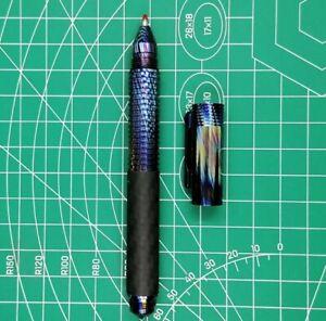 Timascus Titanium Damascus Carbon Fiber Edc Pen .glass Breaker