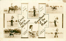RPPC Carol Williams of Caldwell KS Rodeo Sweetheart Juvenile Cowgirl Multiview