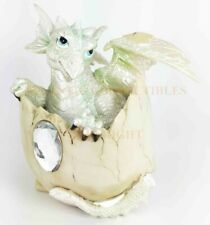 Diamond April Gem Birthstone Baby Dragon Hatchling Egg Statue Collector Edition