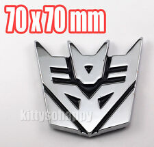 Alloy Metal Transformers Decepticons Logo Badge Emblem Sticker Decal Car Custom