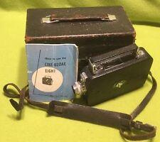 🎞VTG. ~ Kodak ~ Cine-Eight ~ Model 60 ~ Case ~ Papers ~ Extra Lenses