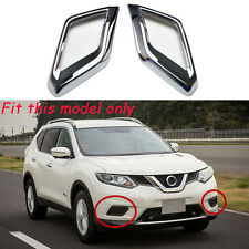 For 2014-2016 Nissan Rogue X-Trail ABS Chrome Front Fog Light Lamp Cover Trim
