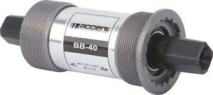 ACCENT BB-40 English Square Bottom Bracket  73 x 113 - 124.5mm  Track Fixie BB