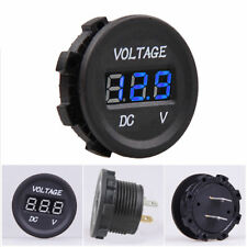 12V DC Waterproof Car Motorcycle Blue LED Digital Display Voltmeter Volt