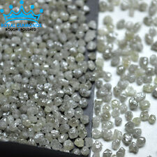 5 crts+ 100% Natural Loose Round Rough Diamonds Light Yellow Earth Mined 2.50mm