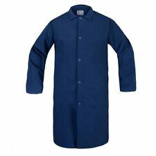 NEW Unisex Butcher Lab Coat Frock Jacket WHITE NAVY LIGHT BLUE SMALL 2X