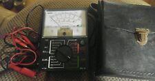 Vintage Hioki M-100B Voltage Meter in Hioki Case working condition