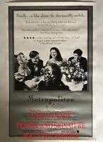 Flash Sale! Whit Stillman signed Original Metropolitan Poster 1 sheet