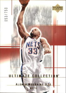 2003-04 Ultimate Collection Nets Basketball Card #68 Alonzo Mourning /750