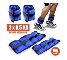 Coppia Pesi Caviglie Polsi Cavigliera Sport Arti Marziali Allenamento 1kg dfh