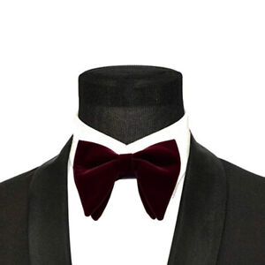 Solid Formal Wear Accessories Bow Tie Planted Velvet Horn Bow Ties Neck Tie