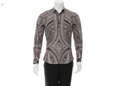 "Alexander McQUEEN Catacombs Skull printed button up shirt. Chest 40"". Sz. S. 36"