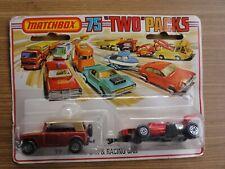 Matchbox  TP-9 FIELD CAR RACING CAR TWO PACKS NEU-OVP