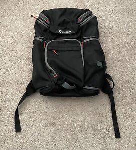 RARE TaylorMade Golf Business Laptop Backpack Back Pack Black GOOD/VERY GOOD