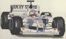 Jacques Villeneuve Formula 1 counted cross stitch kit or chart 14s aida