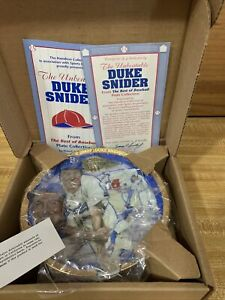 Duke Snider The Hamilton Collection Plate Brooklyn Dodgers #1417C NY Yankees
