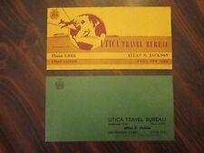 Utica New York Travel Bureau Trip Schedule & Ticket Holder 1950's