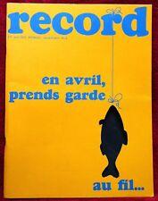Magazine RECORD N° 4 - 1972 - MIC & MACRECORD: MÉGALITHE ÉRIK - Manque Poster