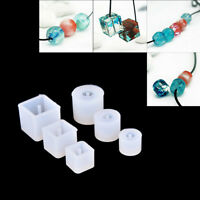 1X DIY Silicone Mold Necklace Beads Pendant With Hanging Hole Making Jewelry _ti