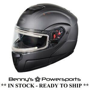 Castle X Atom SV Helmet Modular Electric Shield Snowmobile w Inner Sun Shield
