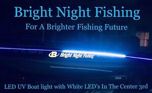 12 ft UV / White LED Strip Black Light Night Fishing Ultraviolet Boat BLACK PCB
