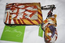 Vera Bradley Painted Feathers CAMPUS DOUBLE ID CASE AND LANYARD NWT