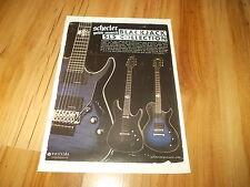 SCHECTER BLACKJACK SLS GUITARS-2012 magazine advert