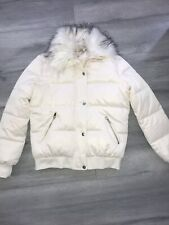 Ladies Size 10 River Island Quilted Padded Cream Puffer Jacket Coat Bnwot